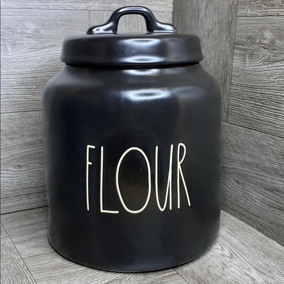 Sold!!!    Rae Dunn FLOUR matte black canister